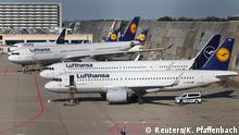 Lufthansa planes are seen parked on the tarmac of Frankfurt Airport, Germany June 25, 2020. REUTERS/Kai Pfaffenbach