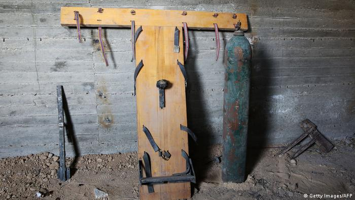 Інструменти тортур в одній із в'язниць Сирії