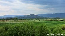 Spreca-Tal bei Kalesija mit dem Berg Vis +++++ Die Bilder wurden von Dragoslav Dedović im April 2019 in Kalesija