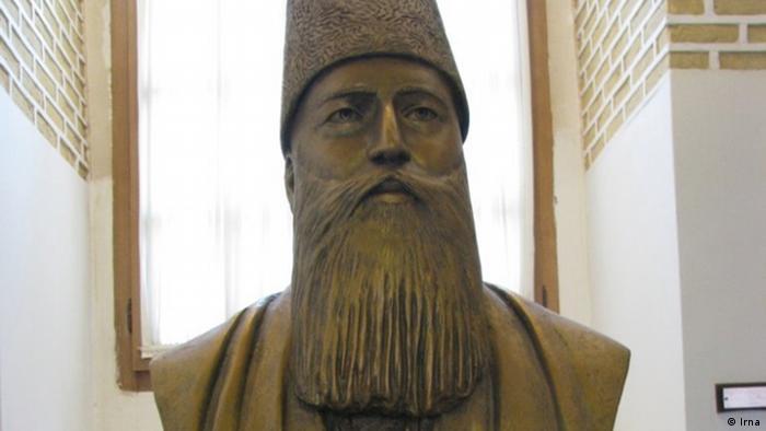 Die Statue von Ghaemmagham Farahani in Teheran