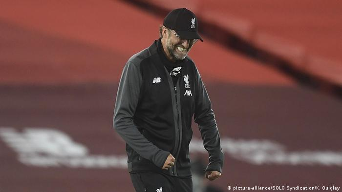 Premier League Liverpool vs Crystal Palace Klopp Jubel (picture-alliance/SOLO Syndication/K. Quigley)