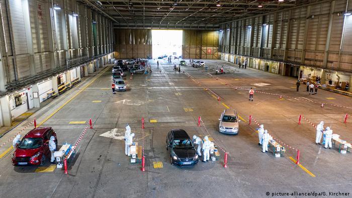 testing center in a hangar
