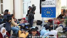 Migranten an EU-Außengrenze Kroatien