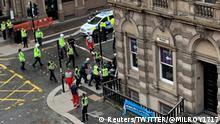 Schottland Messerstecherei in Glasgow