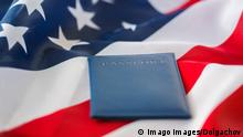 close up of american flag and passport,model released, Symbolfoto,property released PUBLICATIONxINxGERxSUIxAUTxONLY Copyright: xdolgachovx Panthermedia20109418