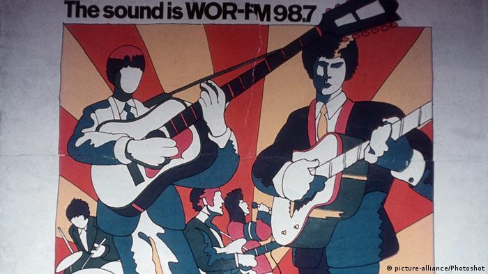 Werbeplakat Glasers von 1967 für WOR-FM, die erste alternative Radiostation New Yorks (Foto: picture-alliance/Photoshot)