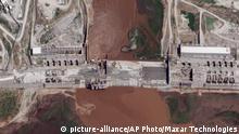 Luftaufnahme des Staudamms