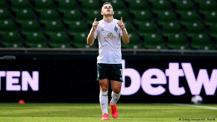 Deutschland Bundesliga Werder Bremen gegen 1. FC Köln | Tor Rashica