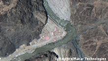 Satelliten-Aufnahme umstrittene Grenze China Indien