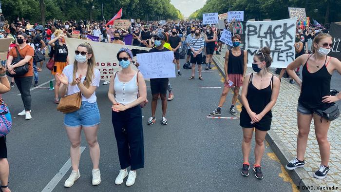 I u Njemačkoj se prosvjedovalo u znak podrške američkom pokretu Black Lives Matter