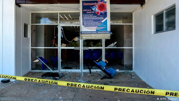 Mexiko Chiapas Ausschreitungen Vandalismus Coronamaßnahmen