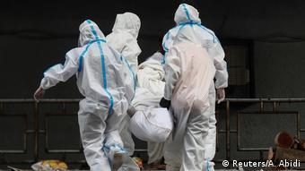 Indien Coronavirus   Ausbruch in Neu Delhi