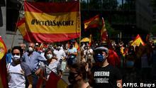 Spanien Proteste in Madrid gegen die Regierung
