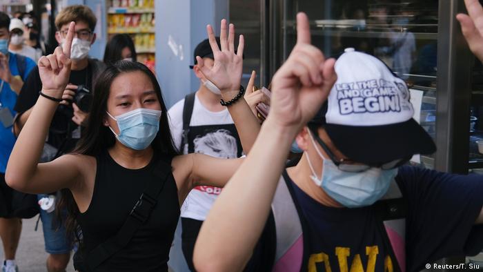 Hong Kong silent protest