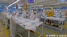 Bangladesh | Coronavirus-Pandemie | Beximco-Mitarbeiter in Savar