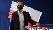 Polen Präsidentschaftswahl | Stimmabgabe Andrzej Duda