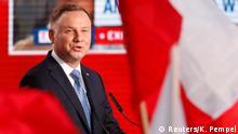 Polen Warschau Präsident Duda nach der ersten Runde der Präsidentschaftswahl