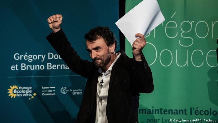 Frankreich, Lyon I Wahlen 2020 I EELV I Europe Ecologie Les Verts I Gregory Doucet (Getty Images/AFP/J. Pachoud)