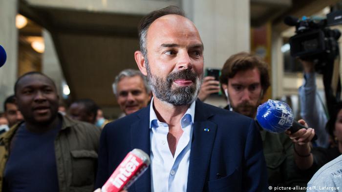Премьер-министр Франции Эдуар Филипп после победы на выборах мэра Гавра 28 июня