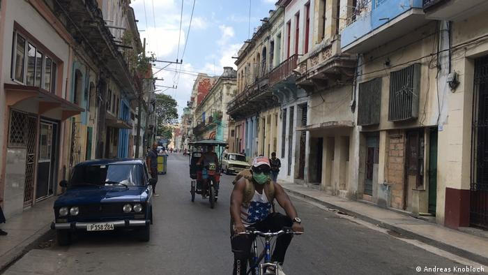 Der Tourismus auf Kuba liegt wegen der Corona-Pandemie zur Zeit am Boden. Straßenszene