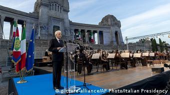 Παρών και ο πρόεδρος της Δημοκρατίας Σέρτζιο Ματαρέλα