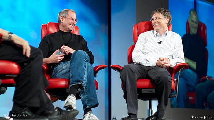 Flash-Galerie USA Apple und Microsoft Steve Jobs and Bill Gates (cc by Joi Ito)