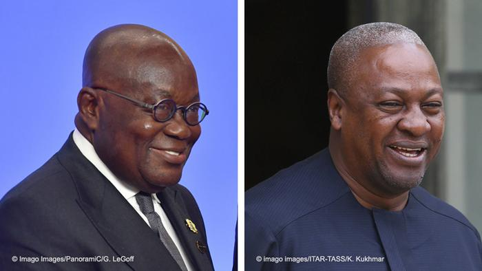 Nana Akufo-Addo and John Dramani Mahama