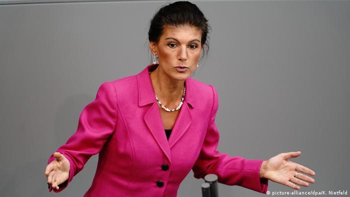 Sahra Wagenknecht speaking in parliament