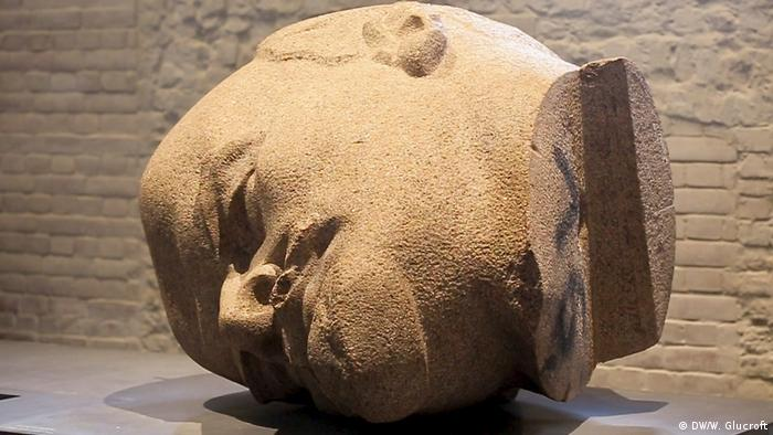 Head of Lenin at Berlin's Citadel museum, from a GDR-era statue previously standing in East Berlin (DW/W. Glucroft)