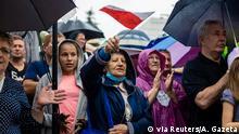 Unterstützer des regierenden Präsidenten Duda in Polen 2020