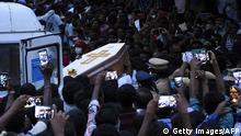 Der Sarg von Jayaraj, der von der indischen Polizei getötet wurde (Getty Images/AFP)