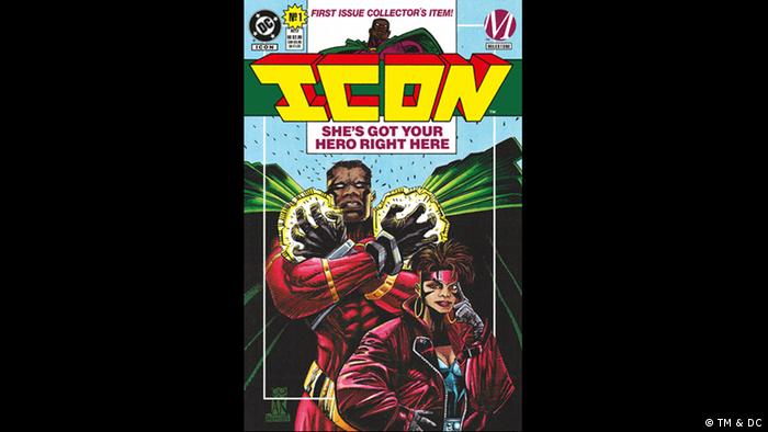 Cover of 'Icon' comic book (Bild: TM & DC)