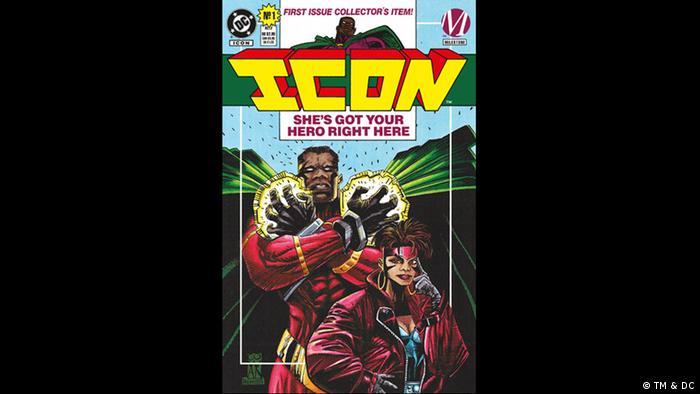Cover of 'Icon' comic book (Bild: TM & DC)