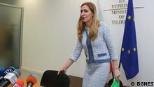 bulgarische Ministerin des Tourismus Nikolina Angelkova