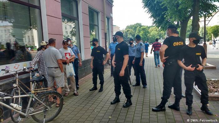 ОМОН срывает акцию протеста в Бресте