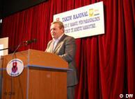 Kryetari i komunës, Dasho Aliko në një konferencë rajonale për luftimin e drogës