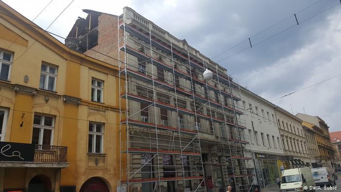 Oštećenje na Ugostiteljskoj školi u Frankopanskoj nakon potresa u Zagrebu