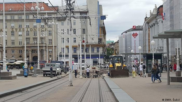 Građevinski radovi na Jelačićevom trgu u Zagrebu