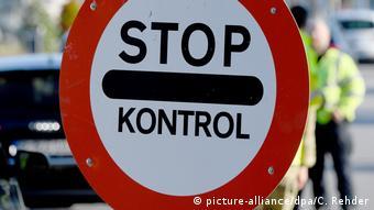 Знак Стоп. Контроль на датской границе