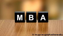 MBA or Master of Business Administration on black block PUBLICATIONxINxGERxSUIxAUTxONLY Copyright: xpichetwx Panthermedia14455961