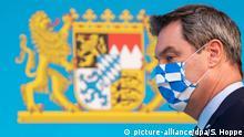 Bayern I Ministerpräsident Markus Söder I Schutzmaske