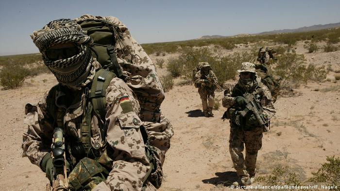 Troops with Germany's KSK special forces