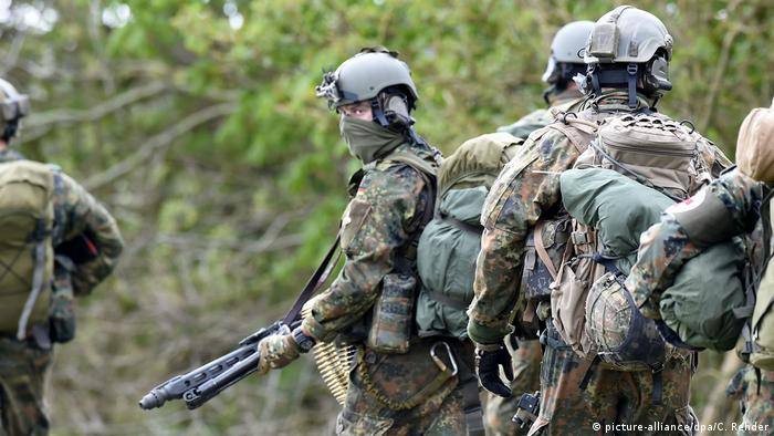 Soldiers in Germany's KSK special forces unit