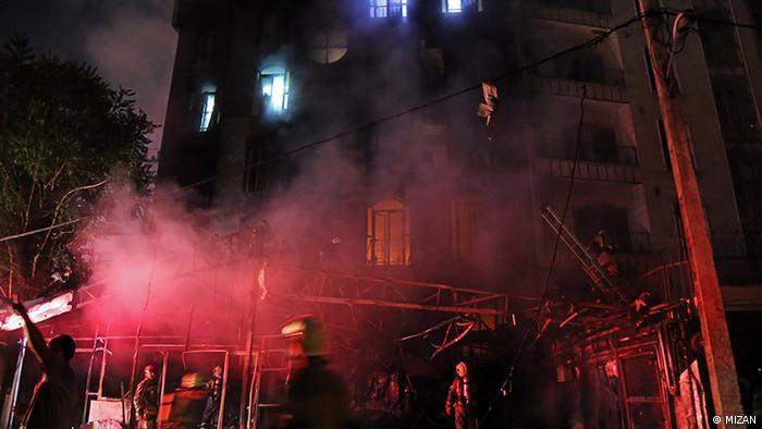 Iran Explosion und Feuer in eine Klinik in Nord Teheran