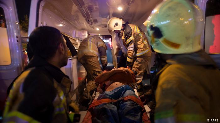 Iran Explosion und Feuer in eine Klinik in Nord Teheran (FARS)