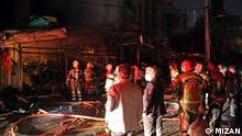 Explosion und Feuer in eine Klinik in Nord Teheran mit 13 Toten und Verletzten