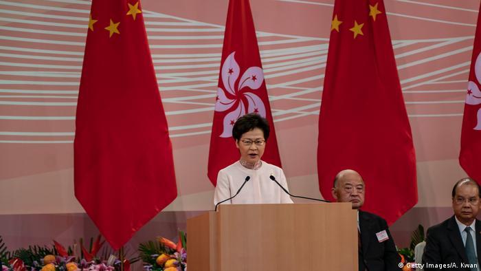 Hongkong | Carrie Lam spricht am Tag des 23 Jubiläum der Übergabe an China