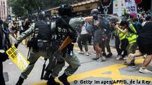Hongkong   Pro-Democracy Proteste am Tag des 23 Jubiläum der Übergabe an China