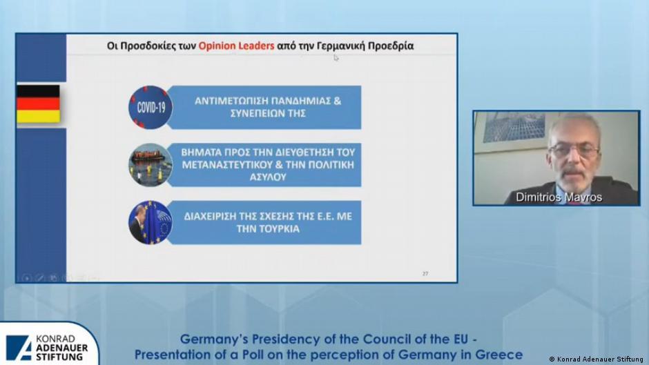 Griechenland | Κonrad Adenauer Stiftung | Präsentation Meinungsumfrage