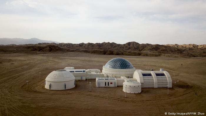 Estación Base 1 de China Mars en el desierto de Gobi